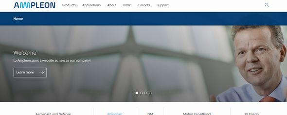 AmpleonのWebサイト