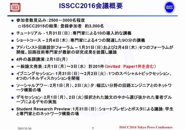 ISSCCで予定されているさまざまなサブイベント