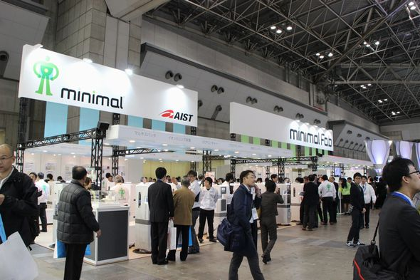 「SEMICON Japan 2015」のミニマルファブ展示ブース