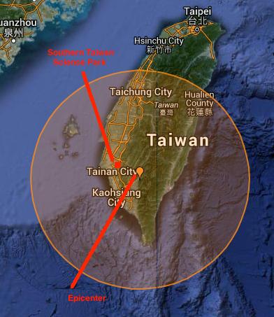 地震が発生した場所