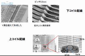 溝の構造部の電子顕微鏡写真