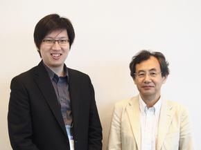 MediaTekのI-Kang Fu氏(左)とメディアテックジャパンの櫻井義孝氏