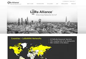 「LoRA Alliance」のWebサイト