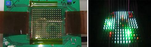 有機半導体でアクティブマトリクス駆動するLEDディスプレイ