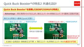 昇圧ドライバーICの追加だけで降圧コンバーター構成を昇降圧コンバーター構成に変更できるQuick Buck Booster