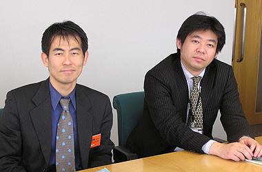 中村氏(左)と鈴木氏(右)