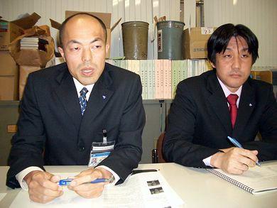 中村隆幸氏(左)と石田哲也氏(右)
