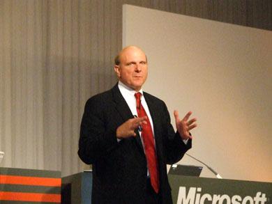 米Microsoftのスティーブ・バルマー 最高経営責任者