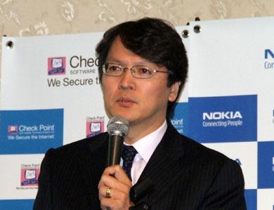 「顧客の声を直接伺う機会を拡大したい」と話す、ノキア・ジャパンの森本昌夫カントリー ジェネラル マネージャー
