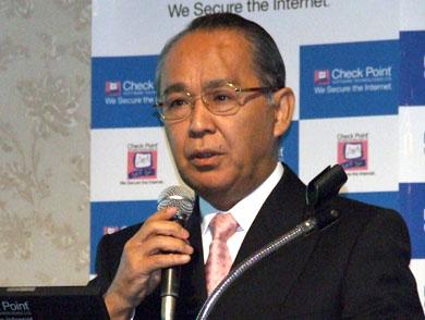 チェック・ポイントの杉山隆弘代表取締役社長は、「UTMは複合商品ではなく、統合環境でありことが大切」と語る。