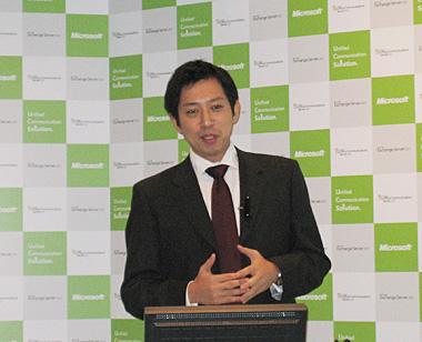 インフォメーションワーカービジネス本部・越川慎司氏