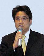 「2007 Office system」のSP1について説明する田中道明オフィス製品マーケティンググループ部長