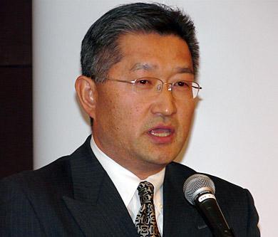 2008年の目標を語る森下社長