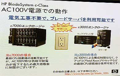 一部CPUに制限があるが、一般的な100V電源で導入できるc-Classのシャーシ