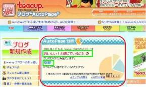 AutoPage分析のイメージ