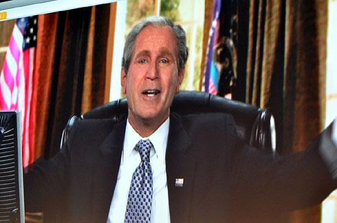 ブッシュ前大統領(のそっくりさん)