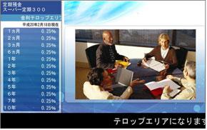 マルチモニター情報配信システムの画面イメージ