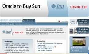 Sun Microsystemsの発表ページ