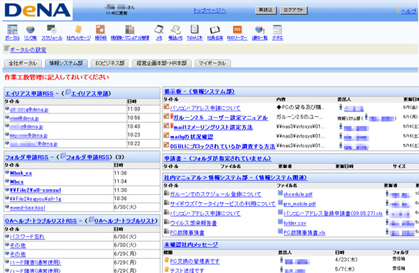 DeNAが活用するガルーン 2の画面イメージ