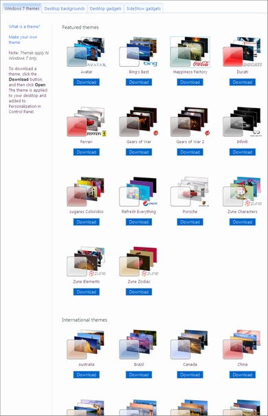 Windows Personalization Gallery