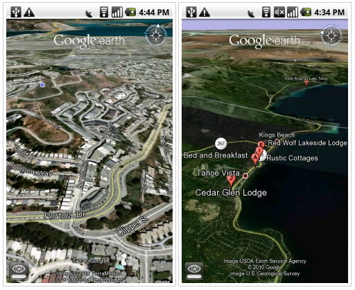 Google Earth for Android