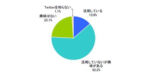 プロモーションにおけるTwitter活用状況(単一回答)