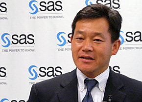 SAS Institute Japan 執行役員 ビジネス開発本部長兼プロフェッショナルサービス本部長の宮田靖氏