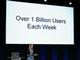 Google、週当たりの検索ユーザー数が10億人を超えたと発表