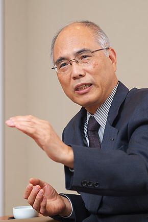 協和発酵キリンの松田譲社長。リーダーとして今や7000人以上の社員を率いる