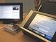 キヤノンと富士通、クラウドERPやScanSnapとChatterの連携機能などを展示