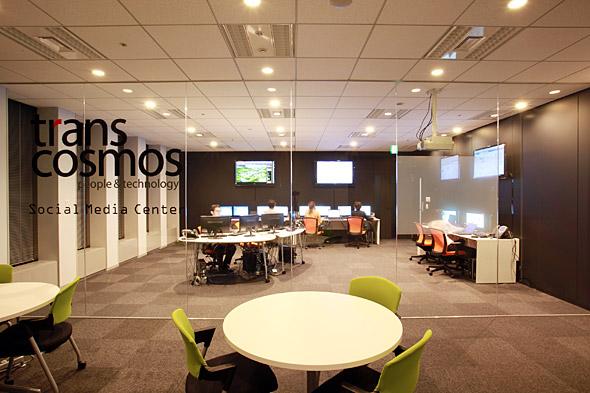 渋谷ソーシャルメディアセンター。開設時点では8人のスタッフが在籍する(写真提供:トランスコスモス)