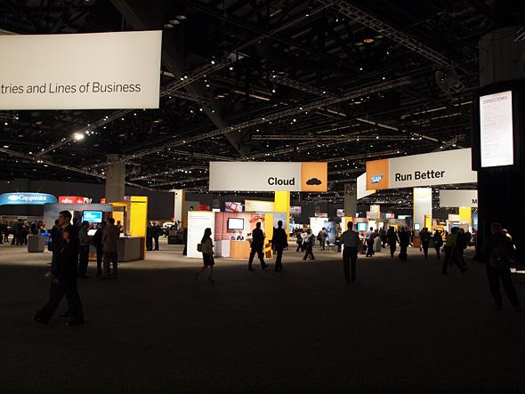 SAPの最新テクノロジーやパートナー企業のソリューションなどを紹介する展示ブース