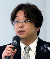 会見に臨むインフォテクノスコンサルティングの勝又愛仁社長