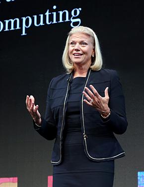 米IBMのジニー・ロメッティ社長兼CEO。軽快な語り口調が印象的だった(提供:日本IBM)