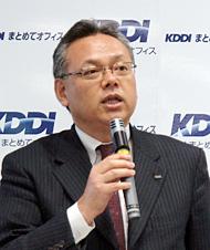 KDDI まとめてオフィスの佐藤司社長