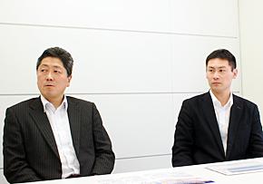 NTTコミュニケーションズ クラウドサービス部 ホスティング&プラットフォームサービス部門  担当部長の奥平進氏(左)と、担当課長の森田泰正氏