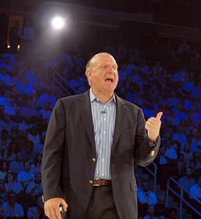 米Microsoftのスティーブ・バルマーCEO
