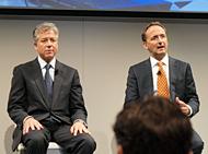 共同CEOのジム・スナーベ氏(右)とビル・マクダーモット氏。2013年5月に行われた「SAPPHIRE NOW Orlando 2013」にて