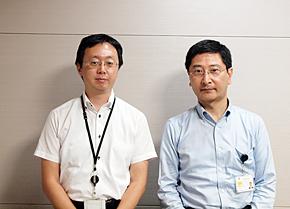 大成建設 社長室 情報企画部 企画室の成瀬室長(右)と島田課長