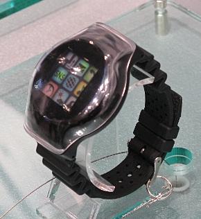 アルプス電気のタッチセンサーを搭載した腕時計型端末の試作機