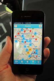 地図上にオファーが表示され、最寄りのオファーをチェックできる。そこまでどうやっていくのかのナビ機能もある