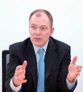 米IBMのGlobal Business Services Global Managing PartnerでStrategy and Analyticsを担当するマーク・チャップマン氏