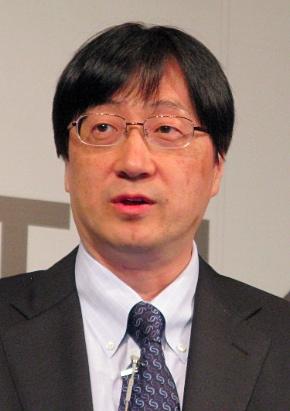 講演に立つSAS Institute Japanの吉田仁志社長