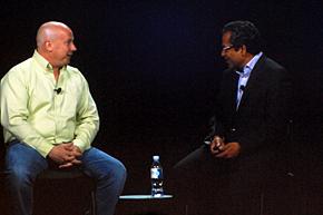 デニス・ラシール氏(左)と、米Citrix シニアバイスプレジデント兼ゼネラルマネジャーでエンタープライズ・サービスプロバイダー担当のスダカー・ラーマクリシュナ氏