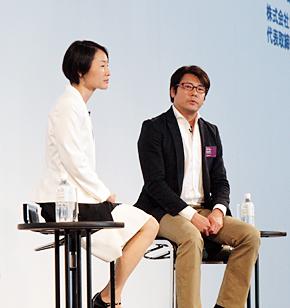 林千晶氏(左)と江口康二氏
