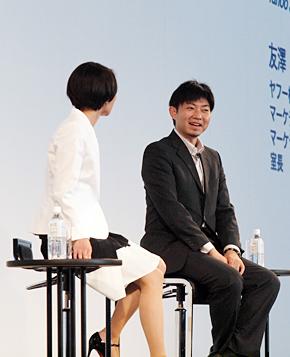 林千晶氏(左)と友澤大輔氏