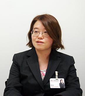 楽天 コーポレート情報技術部 エンタープライズアプリケーション課の荒川鏡子さん