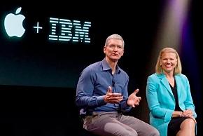 Appleのティム・クックCEOとIBMのジニー・ロメッティCEO(クックCEOのツイッターより)