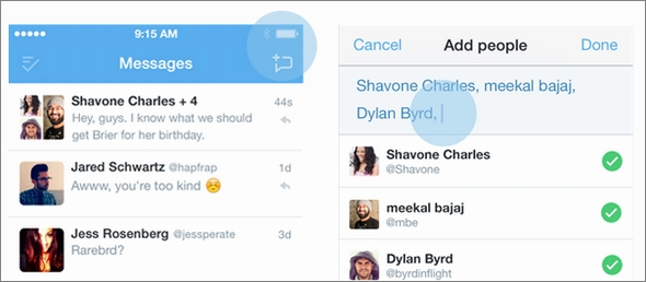twitter group message