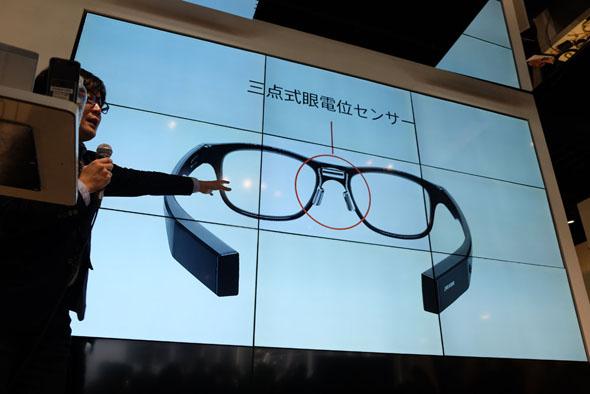 JINS MEMEの眼電位センサー